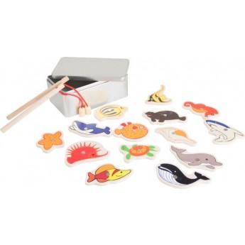 Motorické a didaktické hračky - Chytání rybiček v krabičce - Mořští živočichové