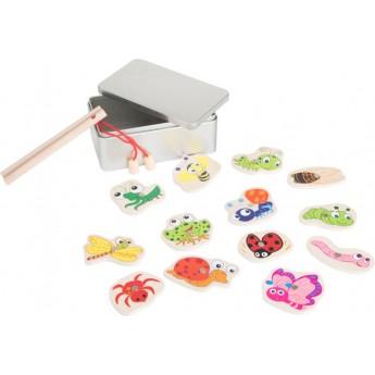 Motorické a didaktické hračky - Chytání rybiček v krabičce - Broučci