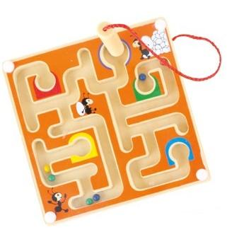 Motorické a didaktické hračky - Magnetický labyrint Mravenci