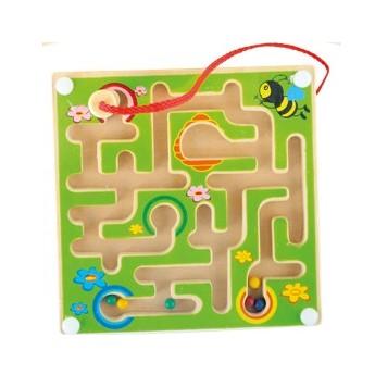 Motorické a didaktické hračky - Magnetický labyrint Včelky