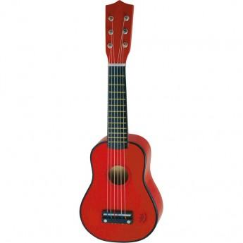 Dětské hudební nástroje - Dětská kytara červená