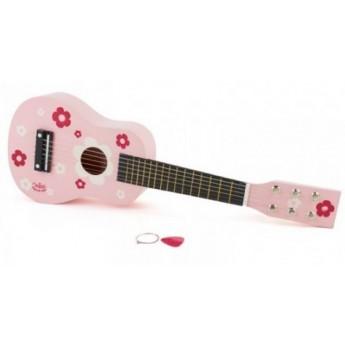 Dětská kytara růžová s květy