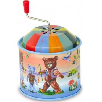 Dětské hudební nástroje - Muzikální hrací skříňka Nathalie - Medvídci