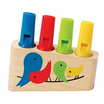 Dětské hudební nástroje - Dřevěná duhová flétna