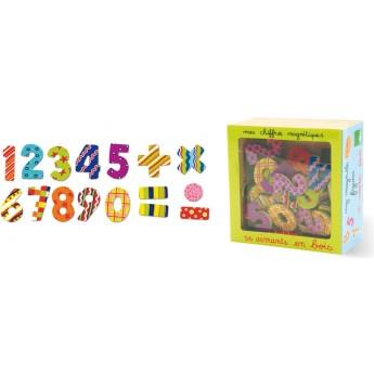 Školní potřeby - Dřevěné magnetky čísla - 56 ks