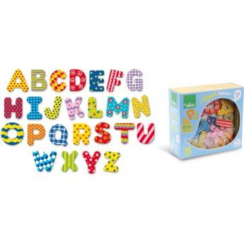 Školní potřeby - Dřevěné magnetky abeceda - 56 ks