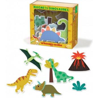 Školní potřeby - Dřevěné magnetky dinosauři - 20 ks