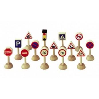 Dopravní značky a semafor 15 dílů
