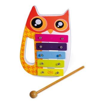 Dětské hudební nástroje - Kovový xylofon Sova