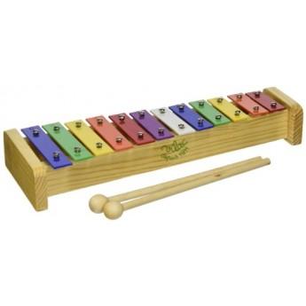 Kovový xylofon se dvěma paličkami