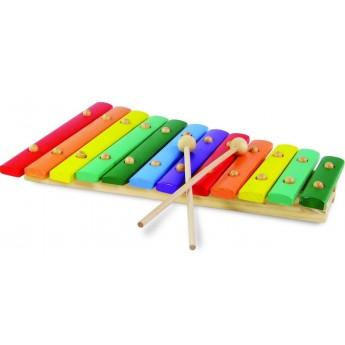 Dětské hudební nástroje - Dřevěný xylofon se dvěma paličkami