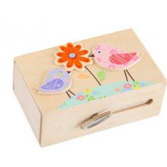 Dětský pokojíček - Dřevěná hrací skříňka - Ptáčci
