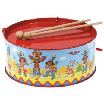 Dětské hudební nástroje - Plechový bubínek Indiáni