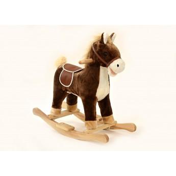 Pro nejmenší - Houpací kůň se zvukem a pohyby hnědý