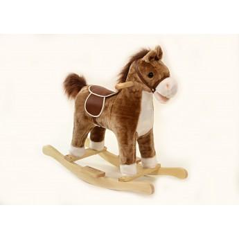 Pro nejmenší - Houpací kůň se zvukem a pohyby hnědobílý