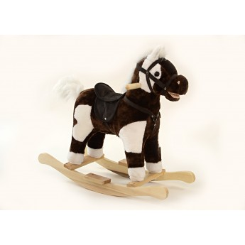 Pro nejmenší - Houpací kůň se zvukem a pohyby tmavě hnědý