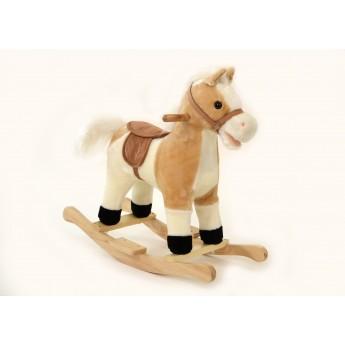 Pro nejmenší - Houpací kůň se zvukem a pohyby béžový