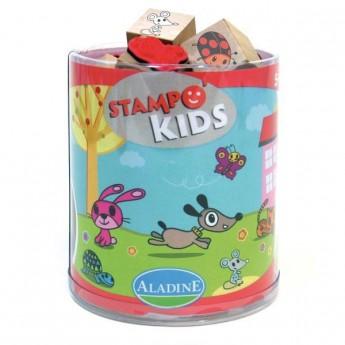 Výtvarné a kreativní hračky - Dětská razítka Myška Lily a její kamarádi