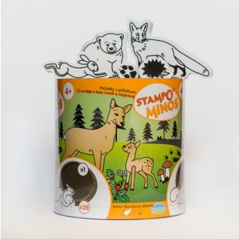 Výtvarné a kreativní hračky - Dětská razítka velká Lesní zvířátka