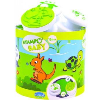 Výtvarné a kreativní hračky - Dětská razítka Zvířátka z daleka - od 18ti měsíců