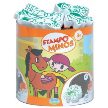 Výtvarné a kreativní hračky - Dětská razítka velká Koňská farma