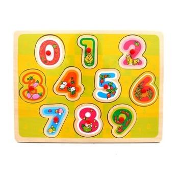Puzzle - Dřevěná vkládačka Učíme se počítat