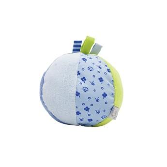 Pro nejmenší - Barevný míček s chrastítkem a oušky, modrý