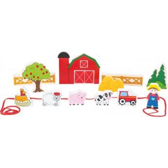 Motorické a didaktické hračky - Provlékačka Moje farma