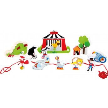 Motorické a didaktické hračky - Provlékačka Cirkus