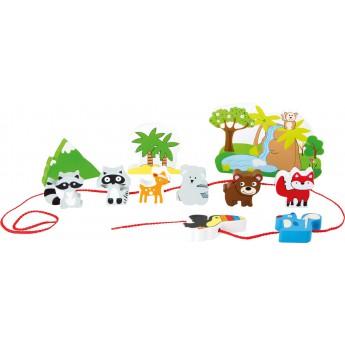 Motorické a didaktické hračky - Provlékačka Safari