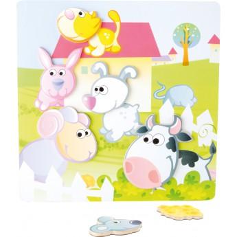 Puzzle - Magnetické puzzle Farma