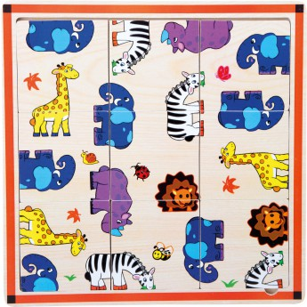 Hry a hlavolamy - Puzzle hlavolam Safari