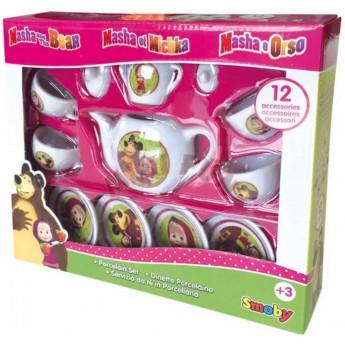 Pro holky - Porcelánové nádobíčko pro panenky Máša a medvěd