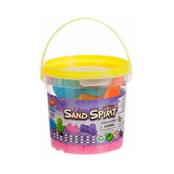 Výtvarné a kreativní hračky - Kinetický písek v kyblíku s formičkami, růžový