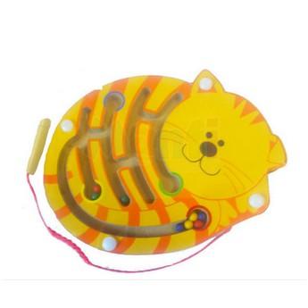 Motorické a didaktické hračky - Magnetický labyrint - Kočka