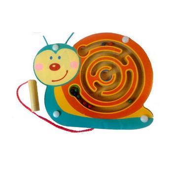Motorické a didaktické hračky - Magnetický labyrint - Šnek