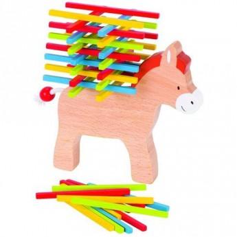 Motorické a didaktické hračky - Dovednostní hra – Oslík, 60 dílů