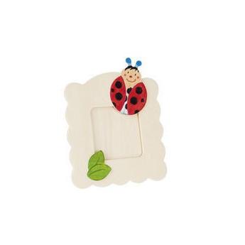 Výtvarné a kreativní hračky - Dřevěný rámeček na fotky k vymalování - Beruška