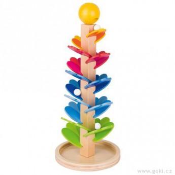 Motorické a didaktické hračky - Kuličková dráha – zpívající pagoda