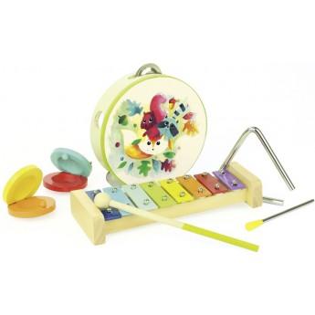 Dětské hudební nástroje - Dětský hudební set Woodland