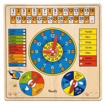 Školní potřeby - Víceúčelový kalendář s hodinami a barometrem