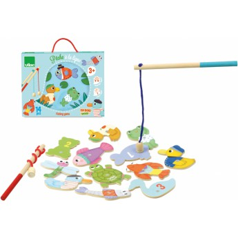 Motorické a didaktické hračky - Magnetické chytání rybek - rybník