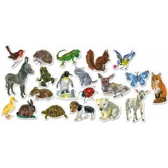 Školní potřeby - Dřevěné magnetky zvířata Nathalie Lété 20ks