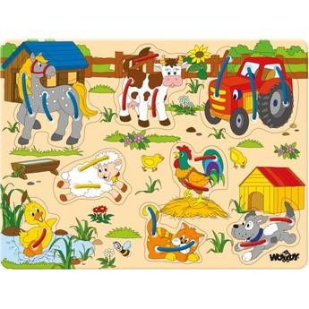 """Motorické a didaktické hračky - Prošívací puzzle """"Zvířátka na statku"""""""