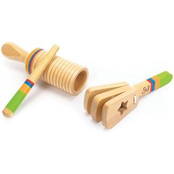 Dětské hudební nástroje - Dřevěný muzikální set