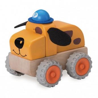 Pro kluky - Dřevěné policejní autíčko pes