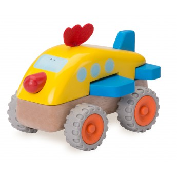 Pro kluky - Dřevěné Mini letadlo kuře