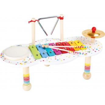 Dětské hudební nástroje - Hudební muzikální stoleček s puntíky