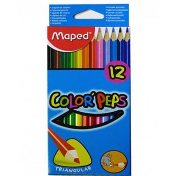 Výtvarné a kreativní hračky - Trojhranné pastelky 12 ks