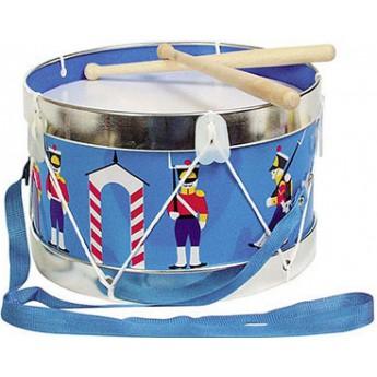 Dětské hudební nástroje - Kovový bubínek s vojáčky, 22 cm